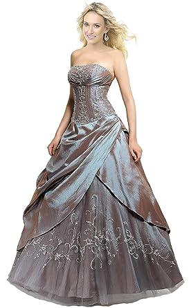 Faironly M201 Frauen trägerlosen Abendkleid Formal Silber Ball Kleid ...