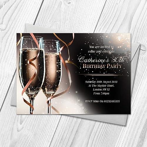 Personalised Adult Invitations