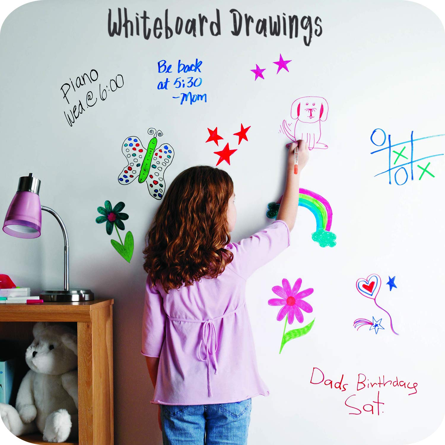 Perfect for Home Dry Wipe Aoyooh Whiteboard Pens Set Assorted Colours Medium and Fine School or Office Dual Tip