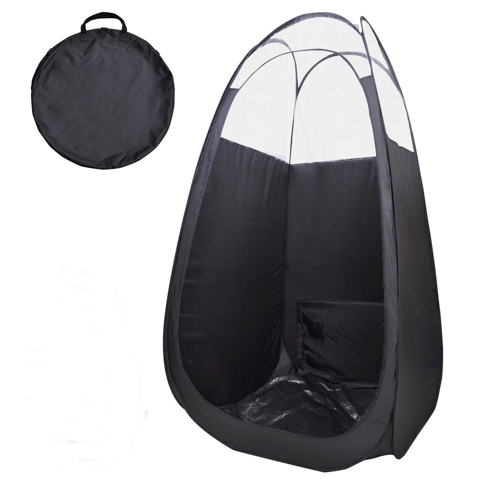 Black Portable Pop Up Spray tanning tent