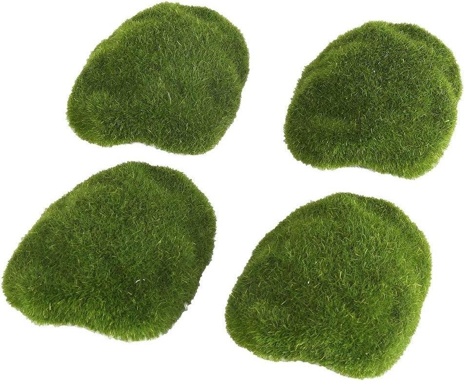 Jard/ín Delama Green Simulation Grass Bricolaje Decoraci/ón del Paisaje para Bonsai Bryophyte Fake Moss