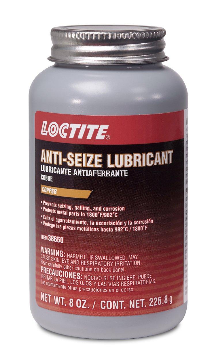 Loctite 38650-12PK Copper Anti-Seize Lubricant - 8 oz. Brush Top Cap, (Pack of 12) by Loctite