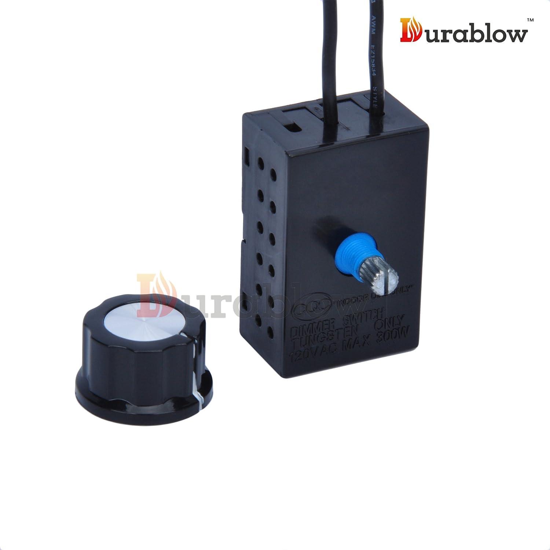 amazon com durablow fireplace stove blower fan variable rheostat