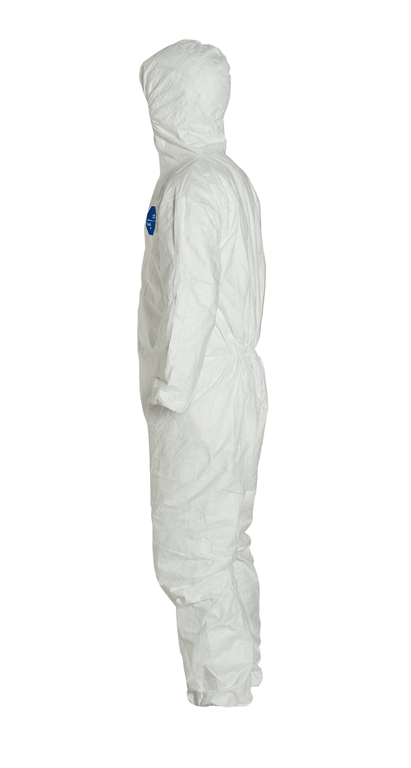 DuPont Tyvek 400 TY127S  Protective Coverall with Hood, Disposable, Elastic Cuff, White, X-Large (Pack of 25) by DuPont (Image #4)
