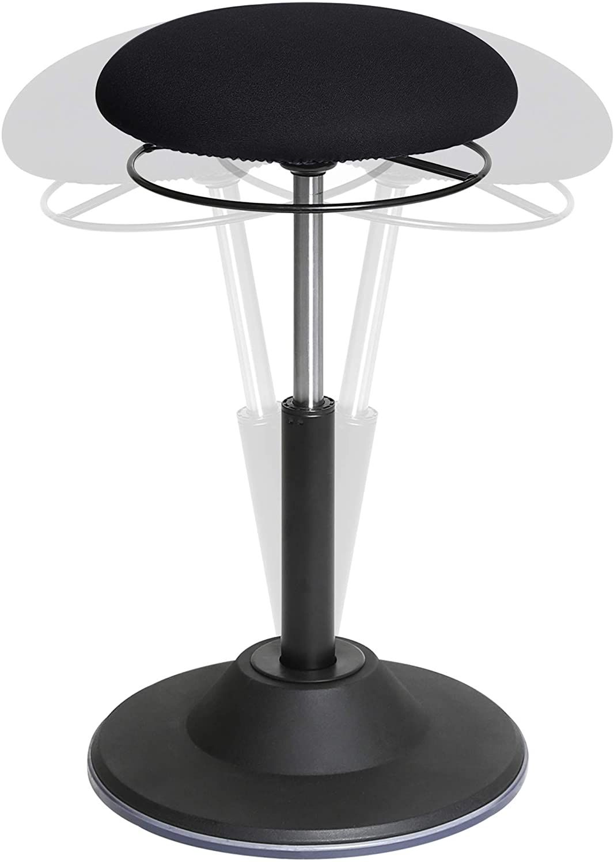 Seville Classics Airlift 360 Sit-Stand Adjustable Ergonomic Active Balance Non-Slip Desk Stool