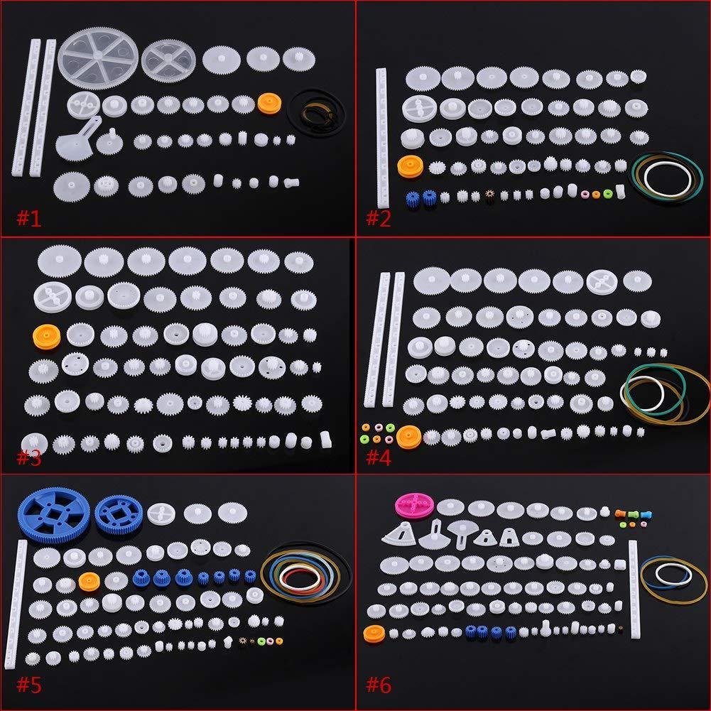 60personnes Kit dengrenage en plastique Motor Engrenage de moteur en plastique Vis Ensemble de bo/îte Pi/èces Accessoires pour mod/èle de voiture robotique h/élicopt/ère