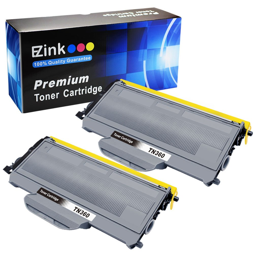 E-Z Ink(TM) Compatible Toner Cartridge Replacement For Brother TN330 TN360 TN-330 TN-360 High Yield (2 Black) for use with HL-2140 HL-2170W DCP-7030 DCP-7040 MFC-7340 MFC-7345N MFC-7440N MFC-7840W