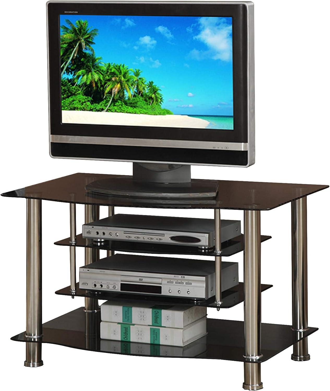 Benzara BM166688 - Soporte para televisor (metal y cristal), color negro y plateado: Amazon.es: Juguetes y juegos