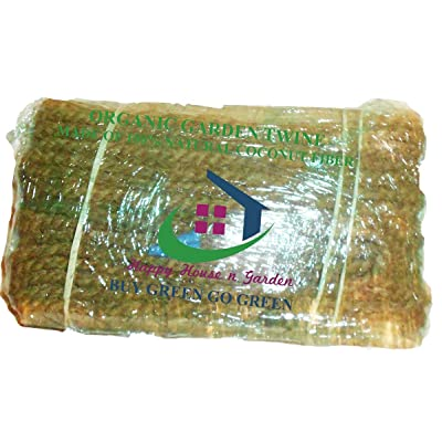 Organic Garden Twine Made of 100% Natural Coconut Fiber, Weight per hank is 1.2 Lbs, and length is 200 Feet, From Our Owon Production.et : Garden & Outdoor