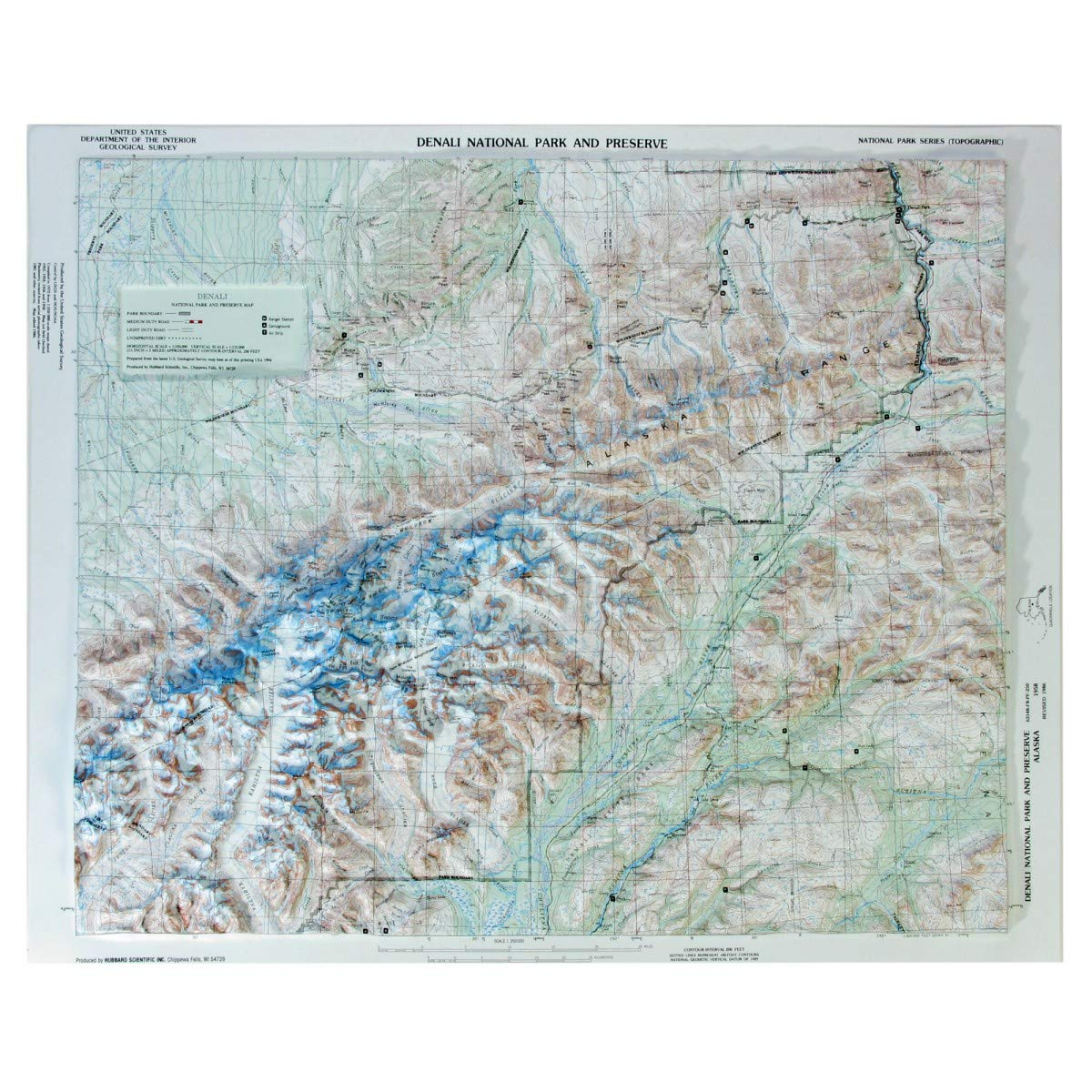 Amazon Com Hubbard Scientific Raised Relief Map 401 Denali