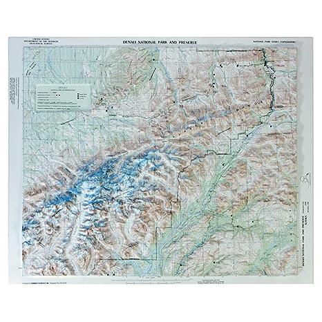 Denali National Park Topographic Map.Amazon Com Hubbard Scientific Raised Relief Map 401 Denali