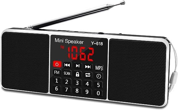 Amazon.com: LEFON Bocina de medios y radio FM digital ...