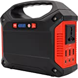TalentCell 12V 100 Watts/155Wh Lithium ion Battery Portable Solar Generator Power Station with Inverter Outputs AC 110V, 3USB 5V/2.1A, 3DC 12V/15A, Charged by Solar/AC/Car