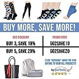 Go2Socks Compression Socks for Men Women Nurses
