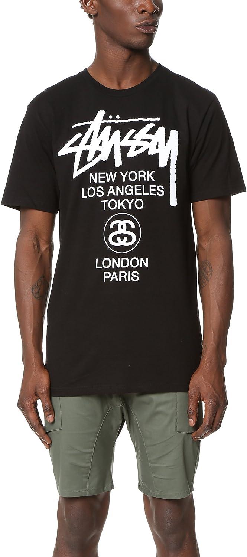 Stussy - Camiseta - Logotipo - para Hombre Negro: Amazon.es: Ropa y accesorios