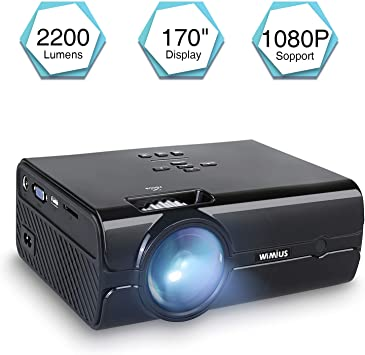 WiMiUS T8 Proyector, Mini Proyectores Portátil HD LCD 2200 Lumens ...