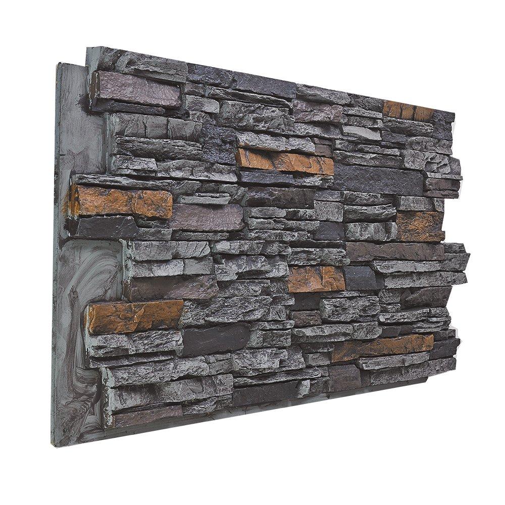 BuyFauxStone FREE SAMPLE Deep Stacked Stone Wall Panel HONEYCOMB
