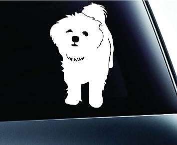 Maltese Mom Windshield Sticker Vinyl Auto Window puppy v2