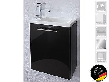 Handwaschplatz Waschtisch Waschbecken Waschplatz Unterschrank Bad  U0026quot;Alexo IIu0026quot; (Korpus Anthrazit/
