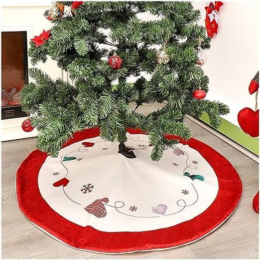 ZhujiaN Las Capas Dobles del árbol de Navidad de la Falda roja y ...