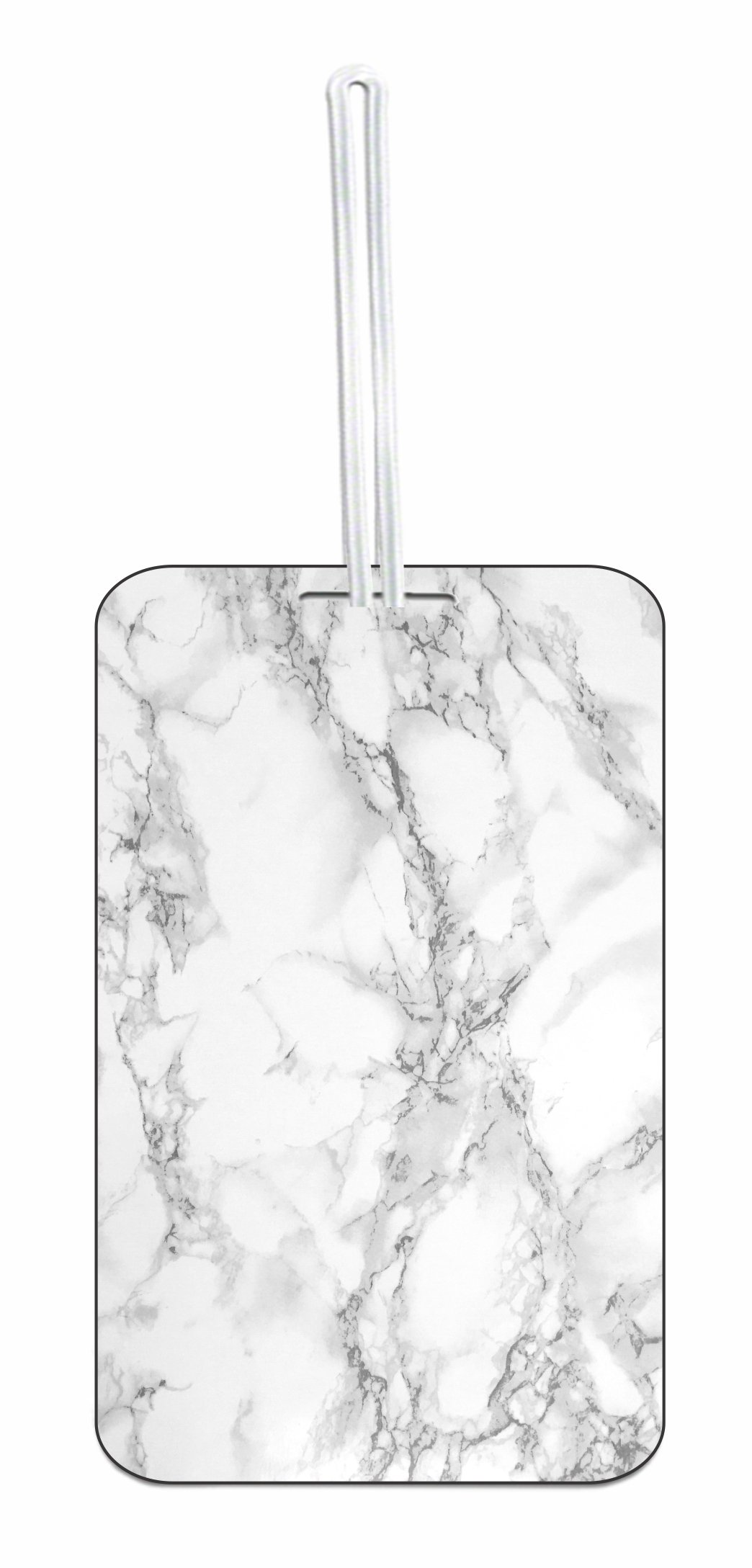 Marble Print Hard Plastic Luggage Tag with Personalized Back