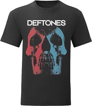 LaMAGLIERIA Camiseta Hombre Deftones - Skull Logo T-Shirt Rock Metal Band 100% algodòn: Amazon.es: Ropa y accesorios