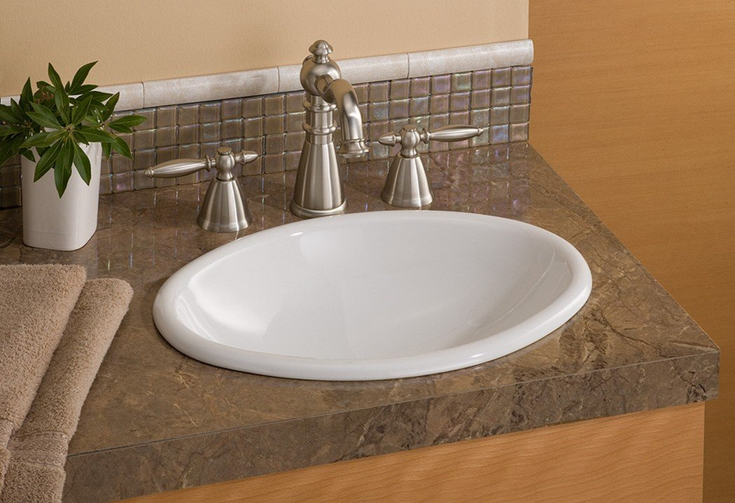 Cheviot Products Inc. 1102-WH Mini Oval Drop In Basin, White by Cheviot Products Inc.