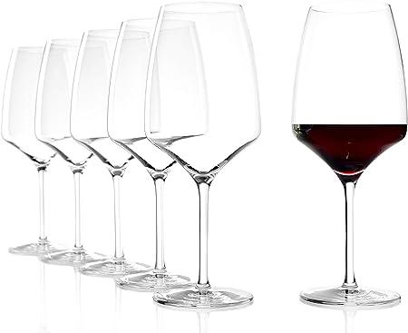 Copa de Vino Tinto Bordeaux de Stölzle Lausitz, 645 ml, set de 6, apta para lavavajillas, tronco estirado