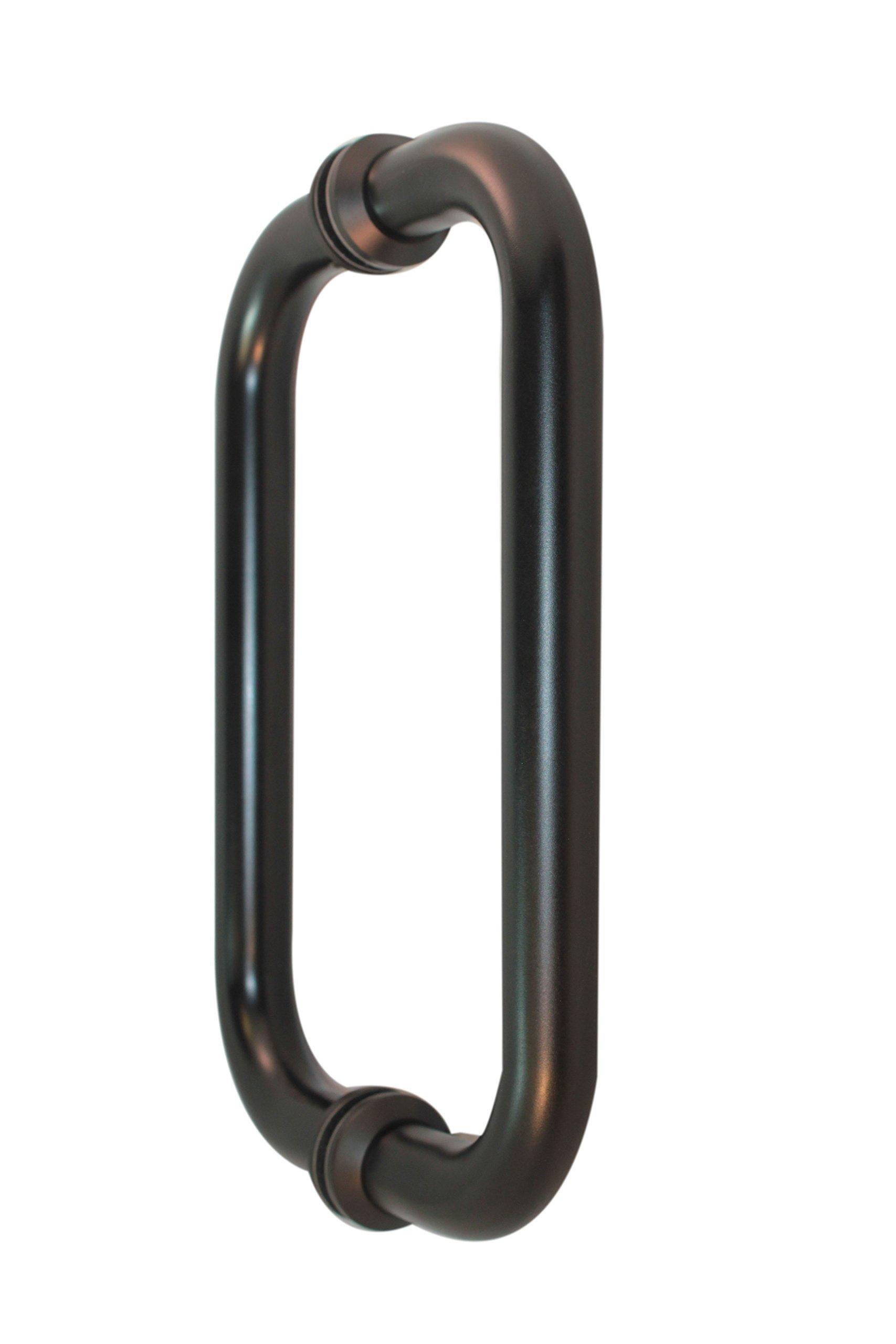 WBS 'Napa' - Heavy Duty / Heavy Glass Shower Door Handle Set Back-to-Back (Oil Rubbed Bronze)