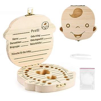 Milchzahndose Zahndose aus Holz Milchz/ähne diverse Modelle- Brillie