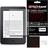 "[Pack of 3] TECHGEAR® Amazon Kindle Paperwhite and Paperwhite 3G eReader with 6"" Dispaly MATTE ANTI-GLARE Screen Protectors with Cleaning Cloth & Application Card"