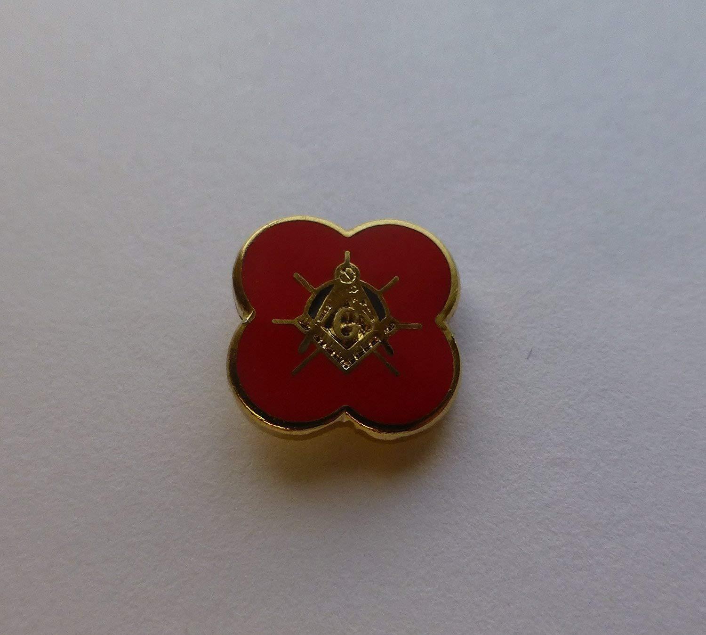 LR280 Masonic Poppy Lapel Pin Collectables