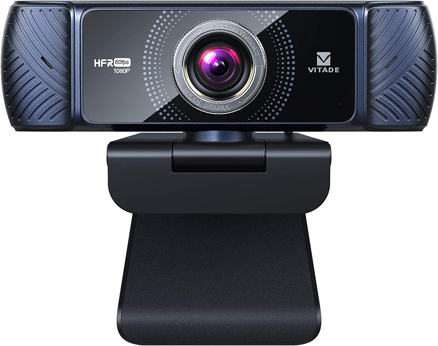 Webcam 1080P 60fps with Microphone for Streaming, Vitade 682H Pro HD USB Computer Web Camera Cam for Gaming Conferencing Mac Windows Desktop PC Laptop Xbox Skype OBS Twitch YouTube (Tripod Included)