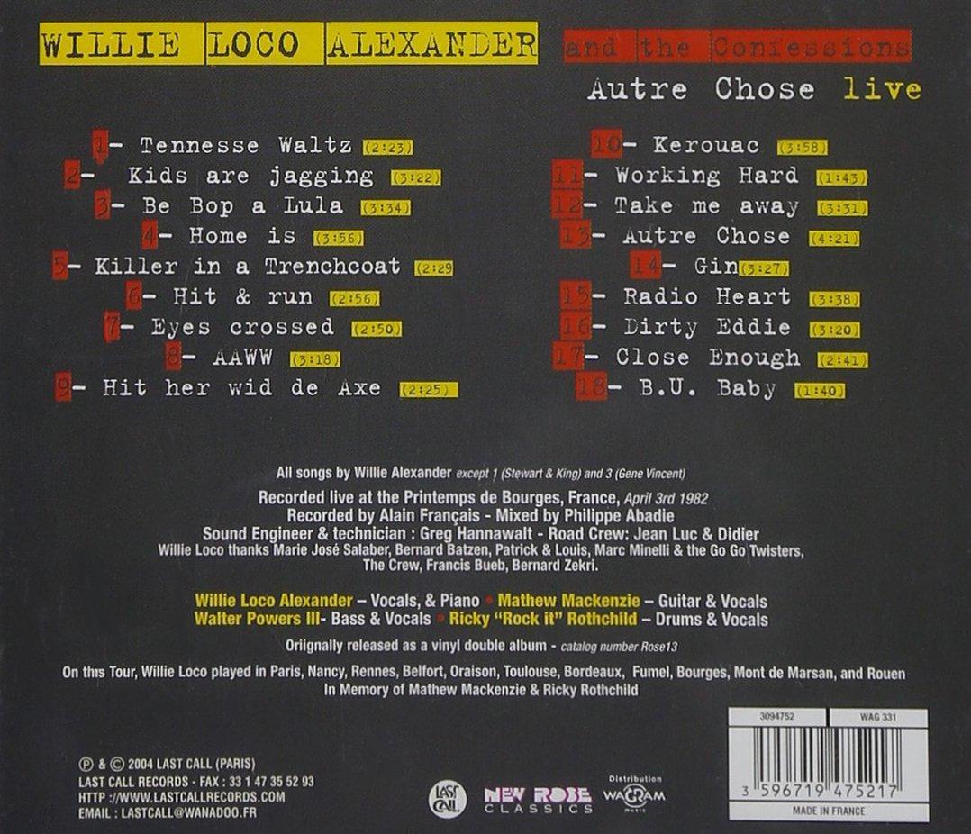 Autre Chose: Live by Last Call Records