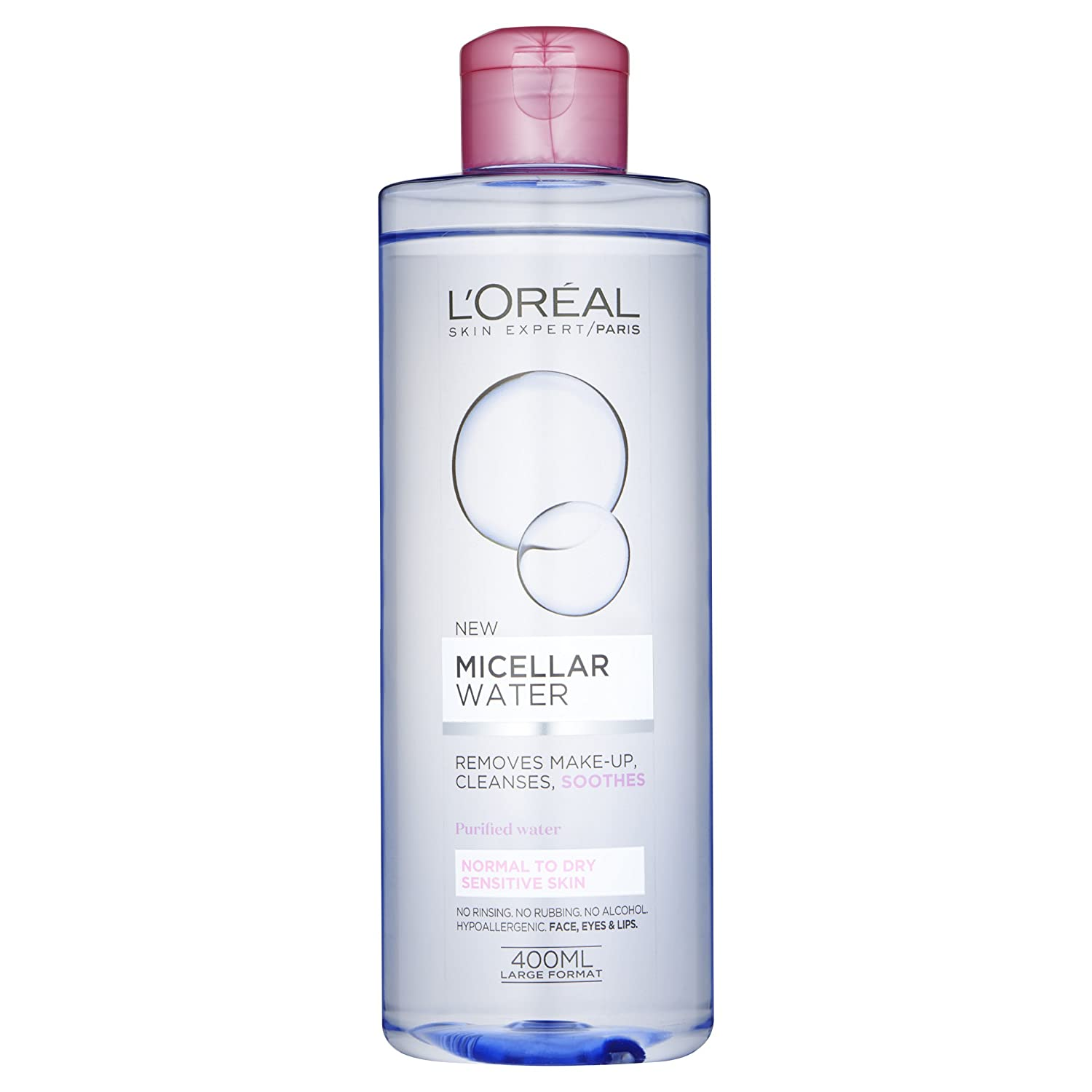 Agua micelar L Oreal Paris para piel sensible, normal y seca 400 ml: Amazon.es: Belleza