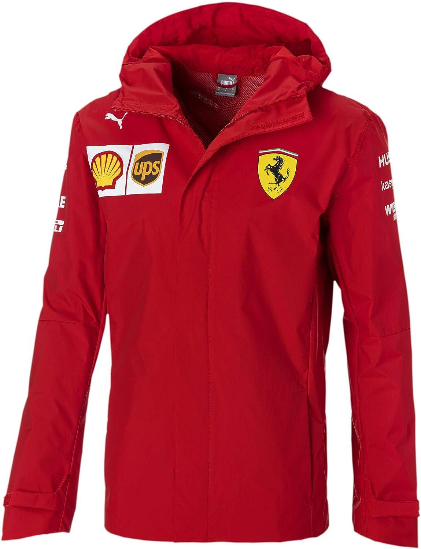 Ferrari Scuderia F1 Mens 2020 Team Rain Jacket Red
