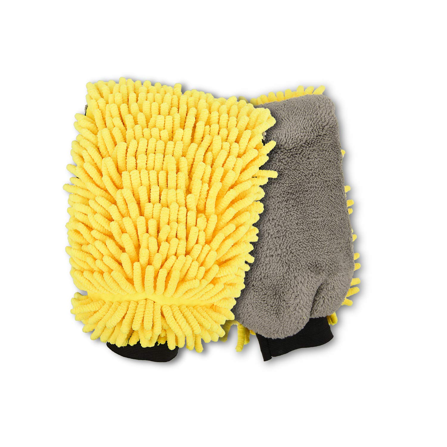 HAPINNEX Microfiber Floor Mop Heads - 2 Pack Refills - Compatible With 360° Spin Cleaning Mops (with diameter between 6.1