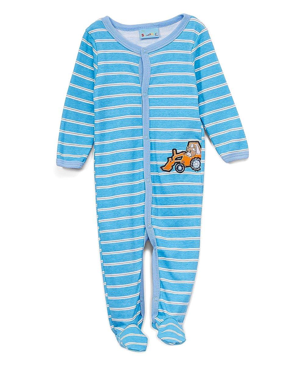 Sweet /& Soft Baby Boys Sleep N Play Tractor