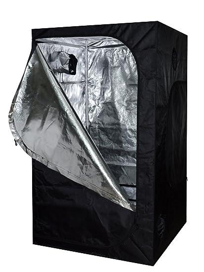 TMS 48x48x78 100% Reflective Mylar Hydroponics Indoor Grow Tent Non Toxic Room 4x4x6.5ft  sc 1 st  Amazon.com & Amazon.com: TMS 48x48x78 100% Reflective Mylar Hydroponics Indoor ...