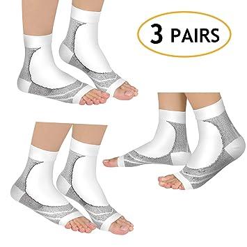 47b8e3f0ef Vitty Plantar Fasciitis Socks for Men & Women (3 Pairs of Compression Socks  Per Pack