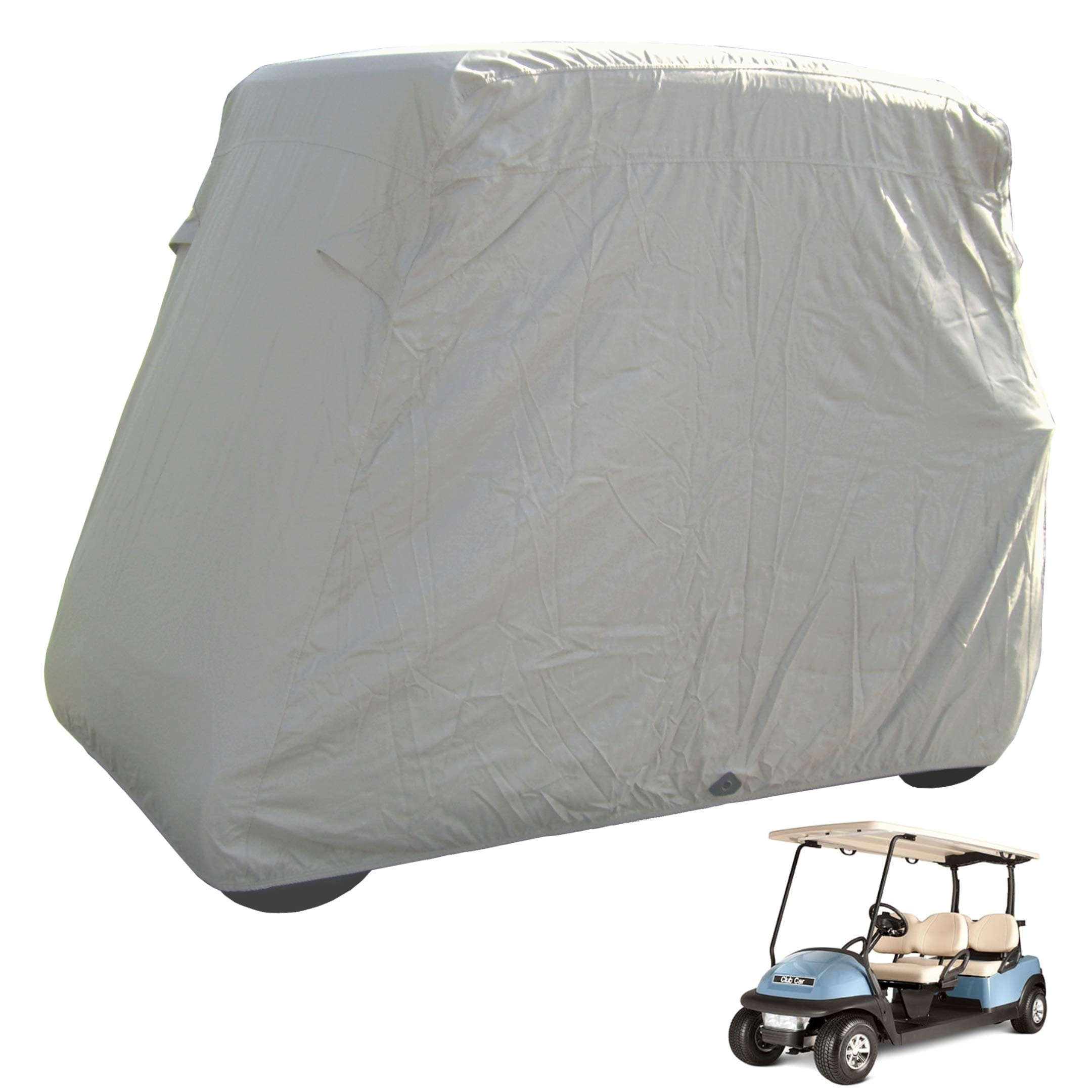 Deluxe 4 Passenger Golf Cart Cover roof 80'' L Taupe, fits E Z GO, Club Car and Yamaha G Model