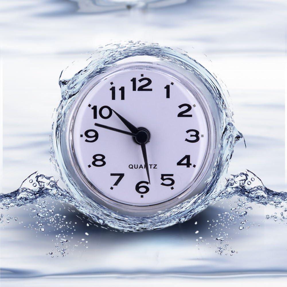 GLOGLOW /étanche Horloge Murale Mini Mignon de Cuisine de Salle de Bain Miroir Ventouse Douche Horloge Murale /à Quartz horloges pour Maison Chambre /à Coucher de Cuisine Deceoraion Utilisation Violet