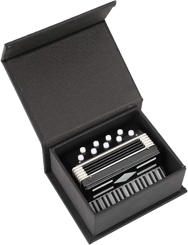 Modelo de acordeón en Miniatura, Modelo de acordeón de Metal, casa de muñecas de 14 cm, Instrumento Musical, pequeños Adornos artesanales para artesanía, hogar, café, casa