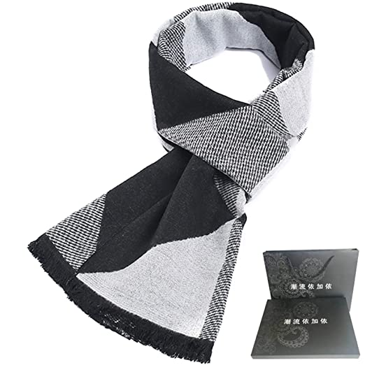 15fbb26a30339 Gnzoe Mens Scarf Winter Warm, Cozy Soft Cotton Bohemian Style Scarf for Men  - 72