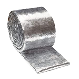 """3M 18804-case Fire Barrier Duct Wrap Collar 615+, 1.5"""" x 6"""" x 25' (Pack of 4)"""