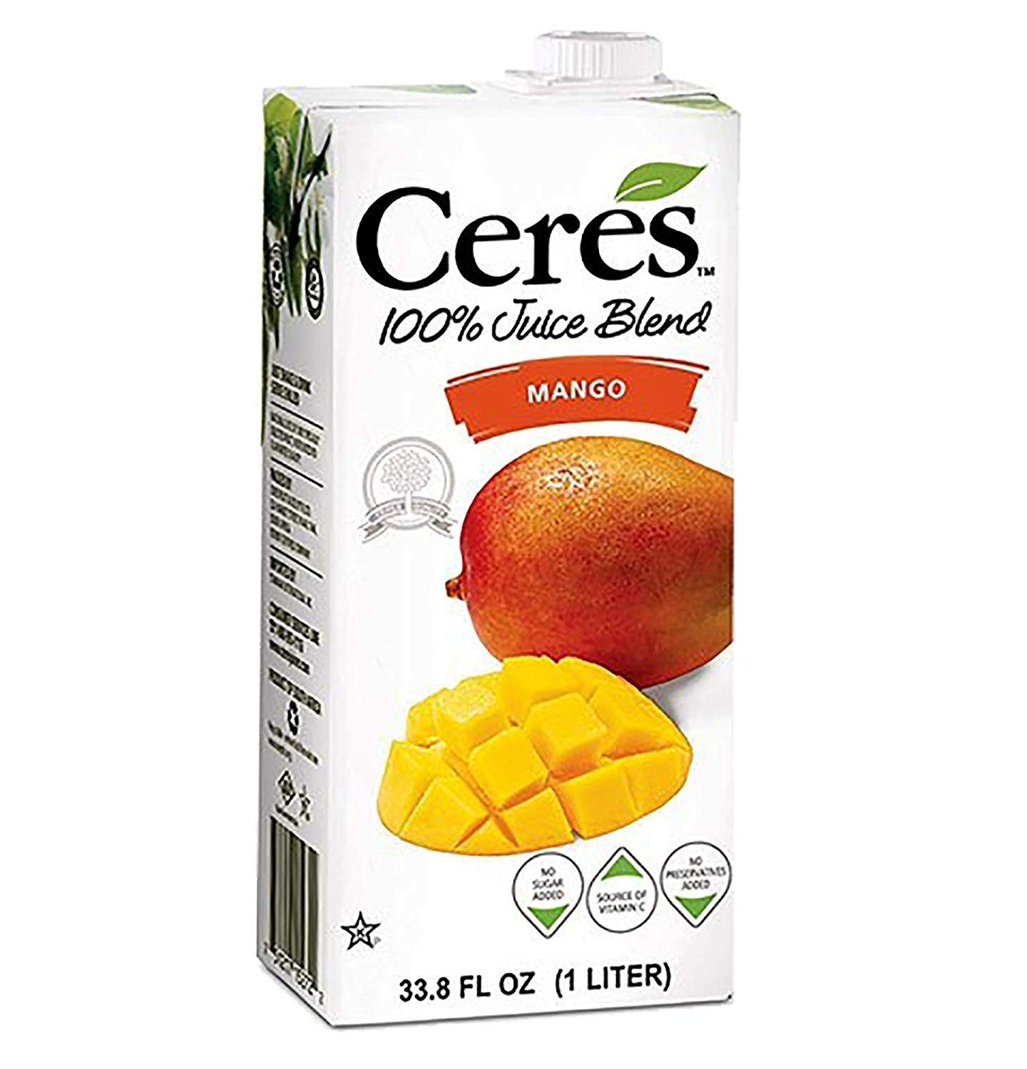 Ceres 100% All Natural Pure Fruit Juice Blend | Gluten Free | Rich in Vitamin C | No Sugar or Preservatives Added, 33.8 FL OZ, Mango (Pack of 12)
