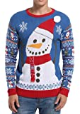 *daisysboutique* Men's Christmas Holiday Snowman Themed Ugly Sweater Cute Pullover