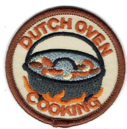 Amazon com: Girl Boy Dutch Oven Cooking Campfire Fun Patches Crests