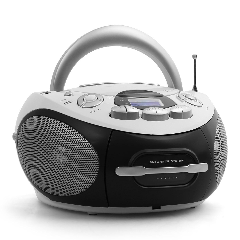 Majestic AH-1287WH Lecteur cassette CD portable - blanc MAJ-AH-1287WH