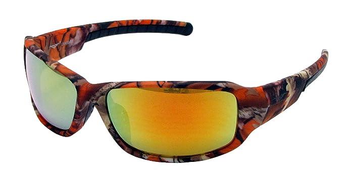 62d4d92350 VertX Mens Sport Camouflage Sunglasses Fishing Hunting Outdoor – Orange Camo  Frame – Orange Lens